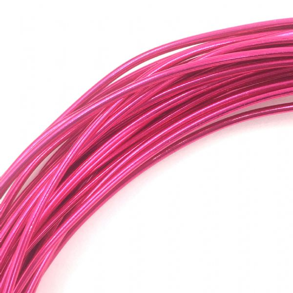 Aluminium wire - 10 metre coil - thickness 1mm - colour fuchsia pink